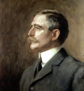 Henry Solomon Wellcome, 1906. Oil painting by Hugh Goldwin Riviere Credit: Wellcome Library, London