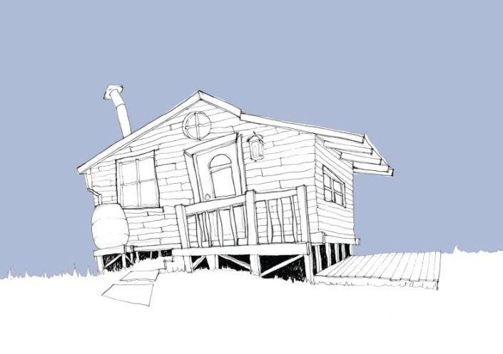 Euan Gray Hut Drawings