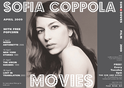 Sophia Coppola movie poster by The Sun and Doves