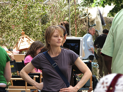 Jodie Foster on set. Photo by Valkry Productions on Flickr